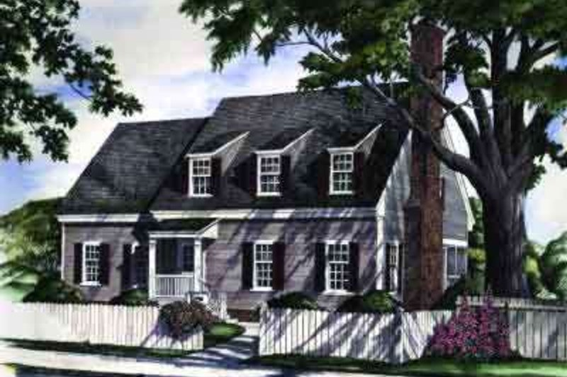 Colonial Exterior - Front Elevation Plan #137-215