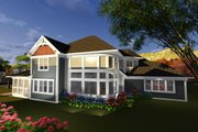 Craftsman Style House Plan - 4 Beds 3.5 Baths 3561 Sq/Ft Plan #70-1254 Exterior - Rear Elevation