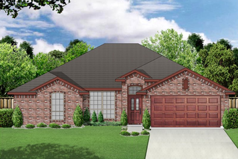 Traditional Style House Plan - 4 Beds 2 Baths 1705 Sq/Ft Plan #84-553 Exterior - Front Elevation