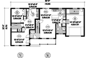 Country Style House Plan - 5 Beds 4 Baths 2655 Sq/Ft Plan #25-4559 Floor Plan - Main Floor Plan