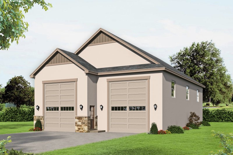 Home Plan - Contemporary Exterior - Front Elevation Plan #932-338