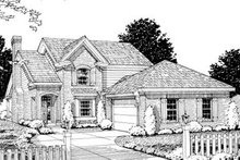 Dream House Plan - Traditional Exterior - Front Elevation Plan #20-1358