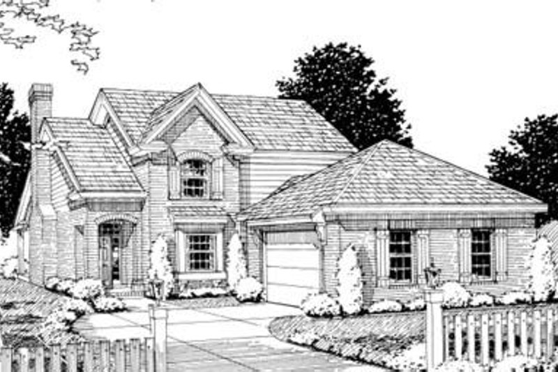 Traditional Exterior - Front Elevation Plan #20-1358 - Houseplans.com