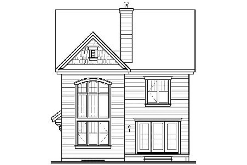Traditional Exterior - Rear Elevation Plan #23-671 - Houseplans.com
