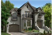 European Style House Plan - 3 Beds 2.5 Baths 2029 Sq/Ft Plan #138-250 Exterior - Front Elevation