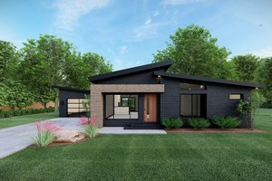 Contemporary Exterior - Front Elevation Plan #923-166