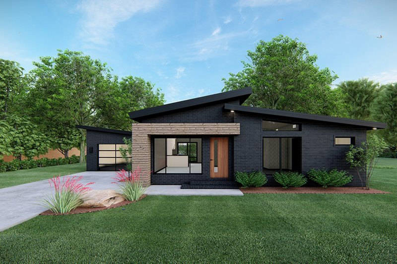 Home Plan - Contemporary Exterior - Front Elevation Plan #923-166