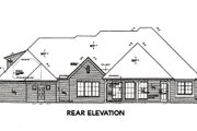 European Style House Plan - 3 Beds 2.5 Baths 2742 Sq/Ft Plan #310-654 Exterior - Rear Elevation