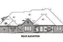European Exterior - Rear Elevation Plan #310-654