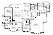 Mediterranean Style House Plan - 4 Beds 3.5 Baths 3518 Sq/Ft Plan #80-206 Floor Plan - Main Floor Plan