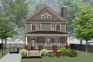 Craftsman Exterior - Front Elevation Plan #79-266