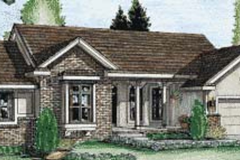 Traditional Exterior - Front Elevation Plan #20-702 - Houseplans.com