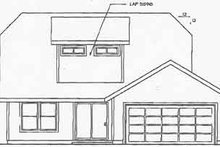 Traditional Exterior - Rear Elevation Plan #124-307