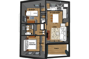 Contemporary Style House Plan - 2 Beds 1 Baths 713 Sq/Ft Plan #542-14 Interior - Other