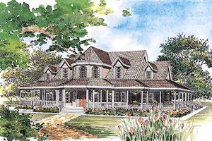 Home Plan Design - Country, Victorian Style home, front elevation
