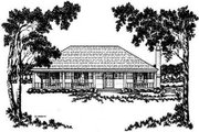 Cottage Style House Plan - 3 Beds 2 Baths 1499 Sq/Ft Plan #36-121 Exterior - Front Elevation