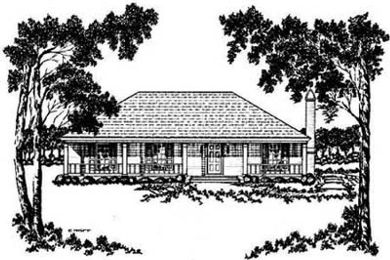 Cottage Exterior - Front Elevation Plan #36-121