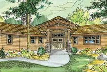 Craftsman Exterior - Front Elevation Plan #124-730