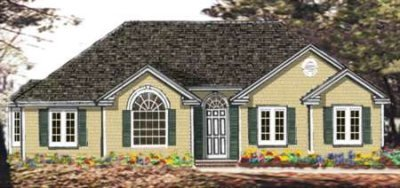 Ranch Exterior - Front Elevation Plan #3-113