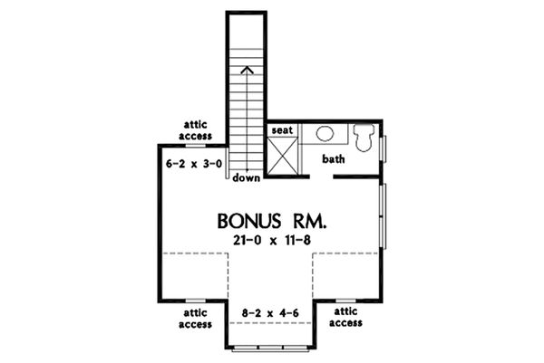 Cottage Floor Plan - Upper Floor Plan #929-1083