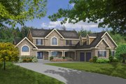 Country Style House Plan - 4 Beds 3.5 Baths 2763 Sq/Ft Plan #456-20 Exterior - Front Elevation