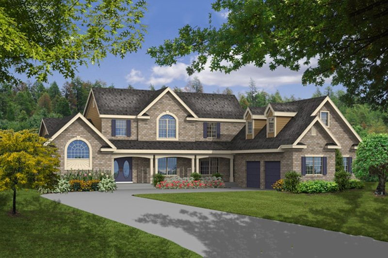 Country Style House Plan - 4 Beds 3.5 Baths 2763 Sq/Ft Plan #456-20