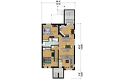 Contemporary Style House Plan - 6 Beds 3 Baths 3666 Sq/Ft Plan #25-4356 Floor Plan - Lower Floor