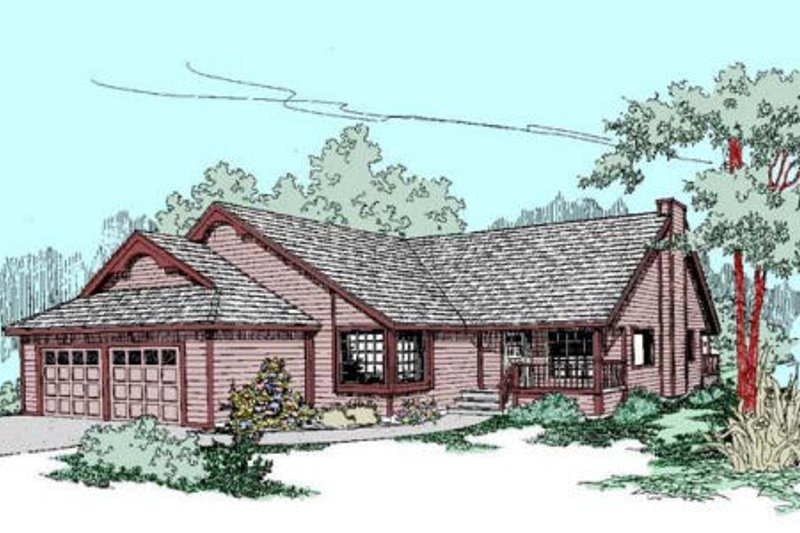 Traditional Exterior - Front Elevation Plan #60-269 - Houseplans.com