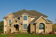 European Style House Plan - 5 Beds 6 Baths 4398 Sq/Ft Plan #56-602 Exterior - Front Elevation