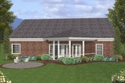 Southern Style House Plan - 3 Beds 2.5 Baths 1831 Sq/Ft Plan #56-580 Exterior - Rear Elevation