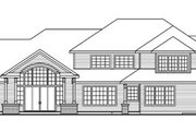 European Style House Plan - 3 Beds 3.5 Baths 6168 Sq/Ft Plan #124-782 Exterior - Rear Elevation
