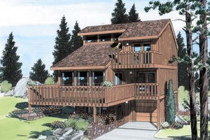 Modern Exterior - Front Elevation Plan #312-571
