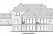 Craftsman Style House Plan - 3 Beds 3.5 Baths 4140 Sq/Ft Plan #20-2337 Exterior - Rear Elevation