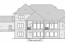 House Plan Design - Craftsman Exterior - Rear Elevation Plan #20-2337