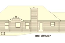 Home Plan - Country Exterior - Rear Elevation Plan #22-470