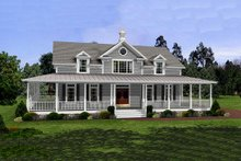 Home Plan - Farmhouse style, country design home, front elevation