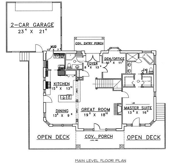 Cabin Floor Plan - Main Floor Plan #117-512