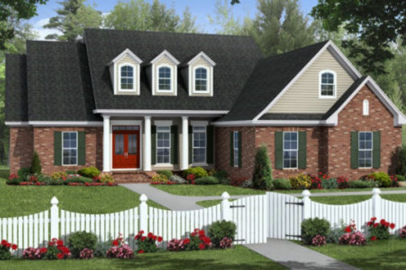 Traditional Exterior - Front Elevation Plan #21-317 - Houseplans.com
