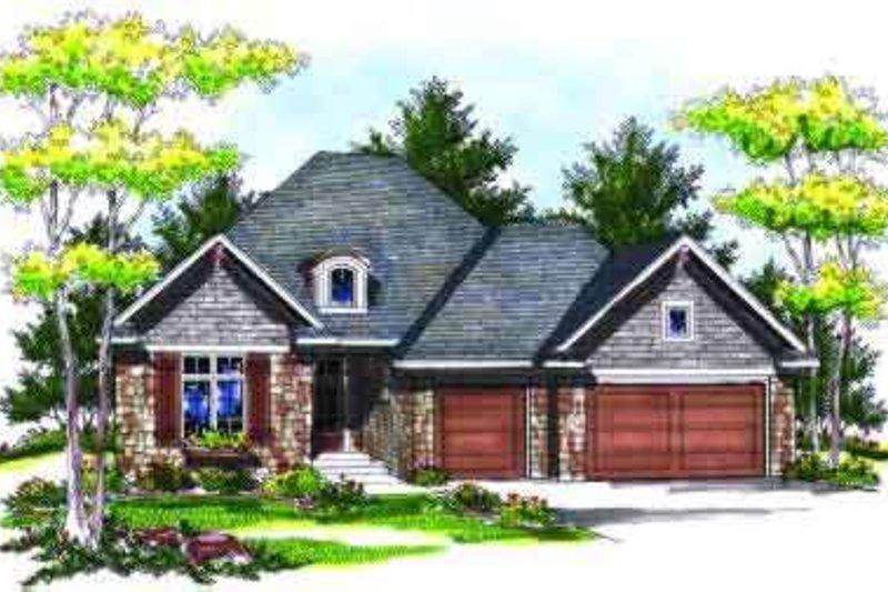 Dream House Plan - European Exterior - Front Elevation Plan #70-706
