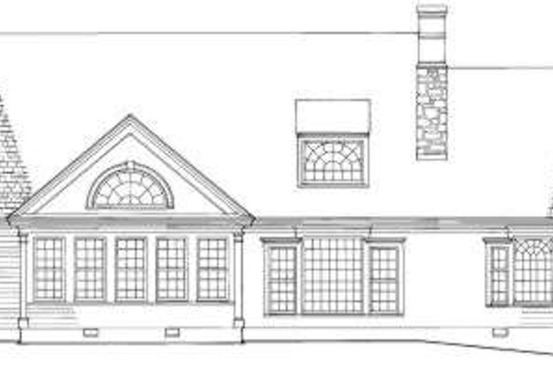 Traditional Exterior - Rear Elevation Plan #137-213 - Houseplans.com