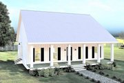 Farmhouse Style House Plan - 2 Beds 1 Baths 1520 Sq/Ft Plan #44-233 Exterior - Front Elevation