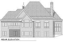 Dream House Plan - European Exterior - Rear Elevation Plan #70-777