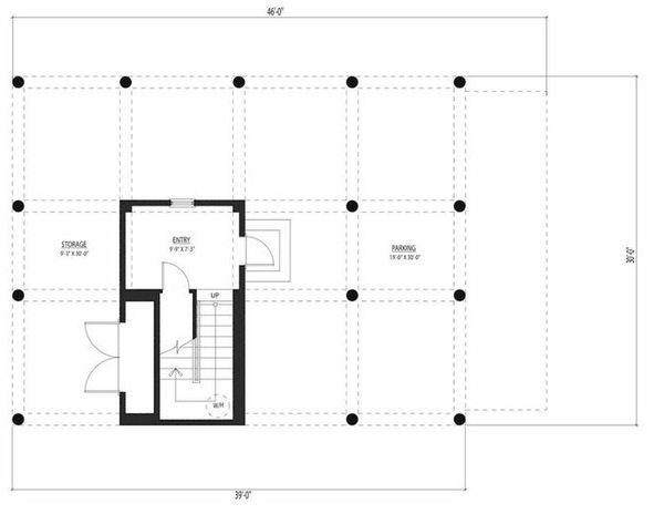 Beach Floor Plan - Lower Floor Plan #443-12