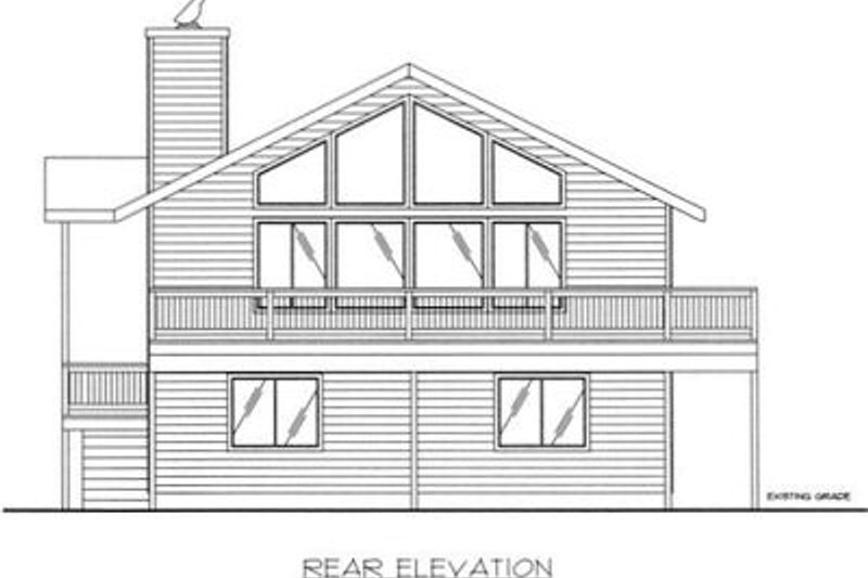Traditional Exterior - Rear Elevation Plan #117-516 - Houseplans.com