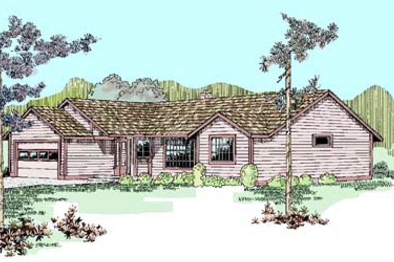 Traditional Exterior - Front Elevation Plan #60-510 - Houseplans.com