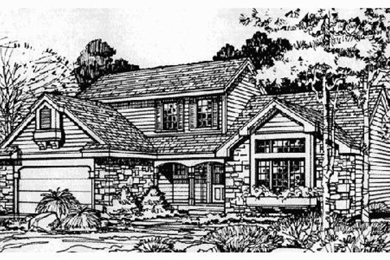 Traditional Exterior - Front Elevation Plan #320-362