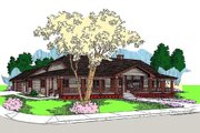 Traditional Style House Plan - 3 Beds 2.5 Baths 3128 Sq/Ft Plan #60-649 Exterior - Front Elevation