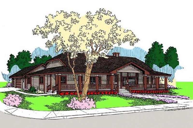 Traditional Exterior - Front Elevation Plan #60-649 - Houseplans.com