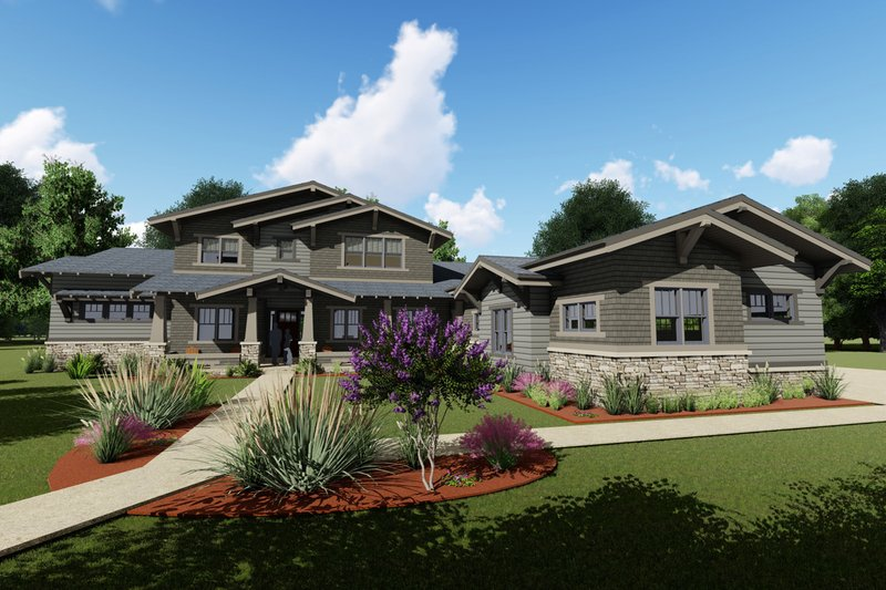 Architectural House Design - Craftsman Exterior - Front Elevation Plan #1069-12