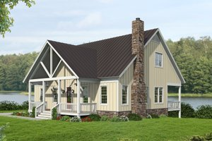 Country Exterior - Front Elevation Plan #932-351